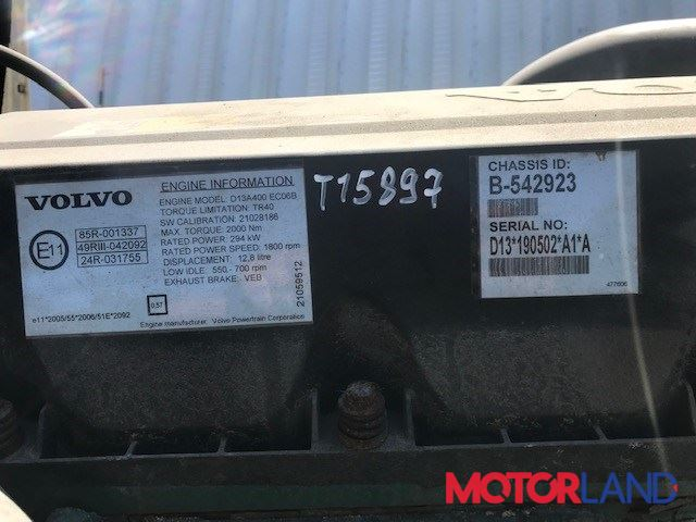 Volvo FH 2000-2011, разборочный номер T15897 #7